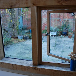 Bespoke oak framed windows