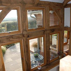 Oak Beams in Garden room