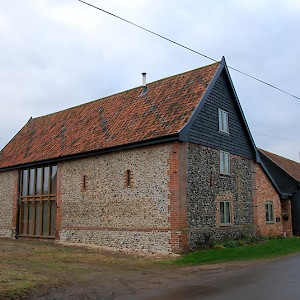 Barn conversion with oak windows and doors