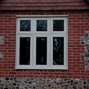 Panelled wooden windows Norfolk