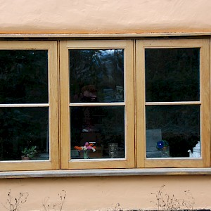 triple panelled wooden windows, Norfolk