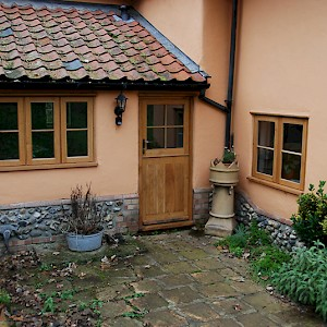 wooden windows and doors in extension