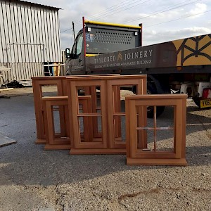 oak windows norfolk ready for delivery.