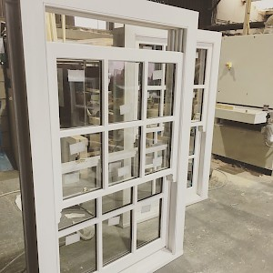 Sliding sash timber frame windows, Norfolk