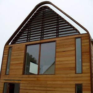 Sympathetic wooden window installation, Norfolk