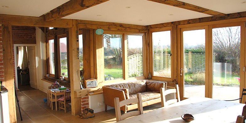 Oak framed interior, Norfolk