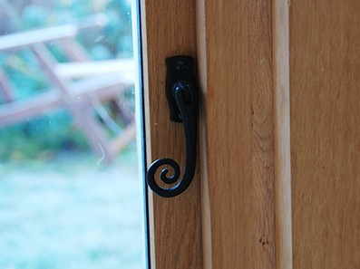 Oak interior Garden Room Door, Pinch Pot Cottage, Norfolk