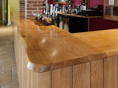 Side view of Bespoke Oak Bar, Norfolk