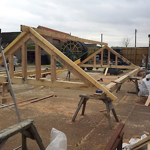 Made to order trusses for timber framed buildings.