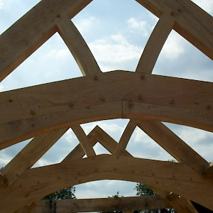 Oak trusses individually design 6